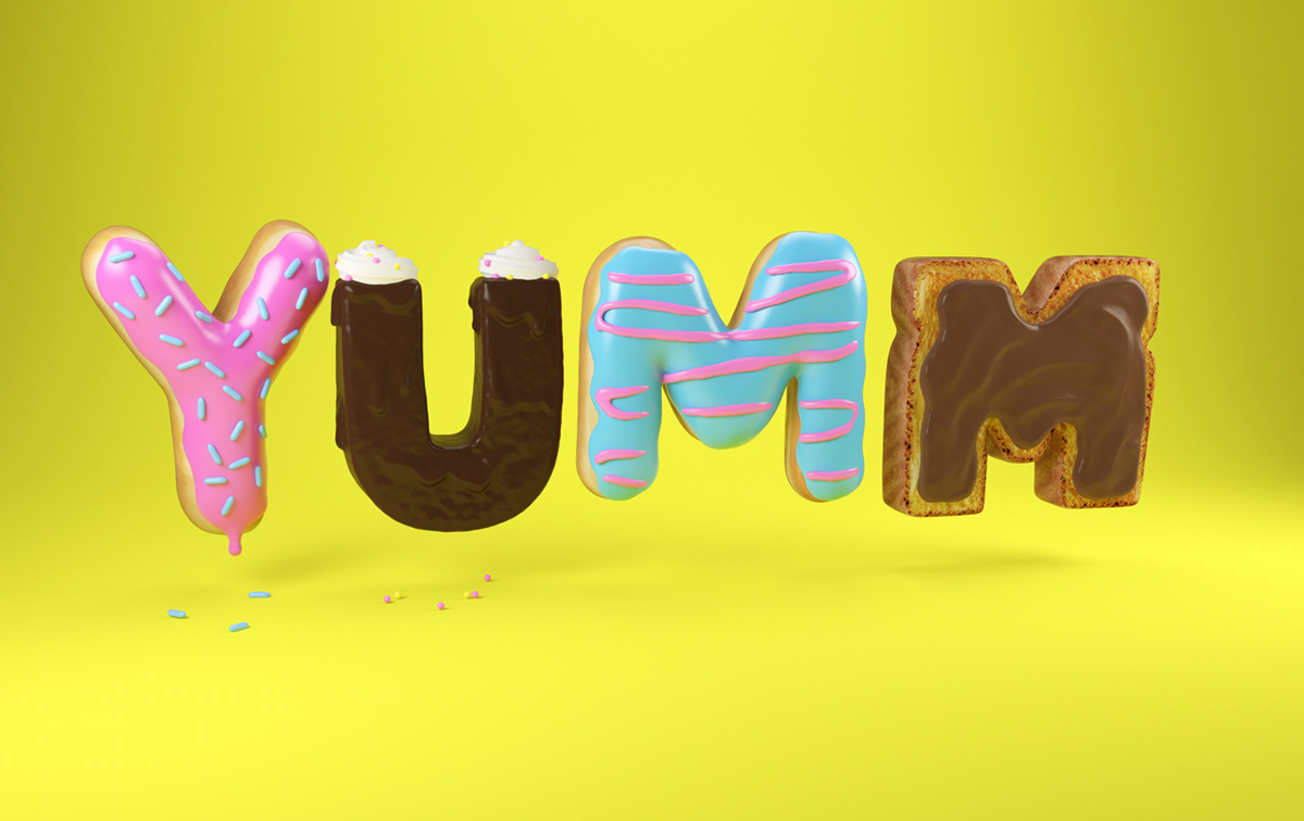 3DLETTERING CESS 3D 3DTYPE LETTERING CGI PANERABREAD 3DFOOD FOODTYPE