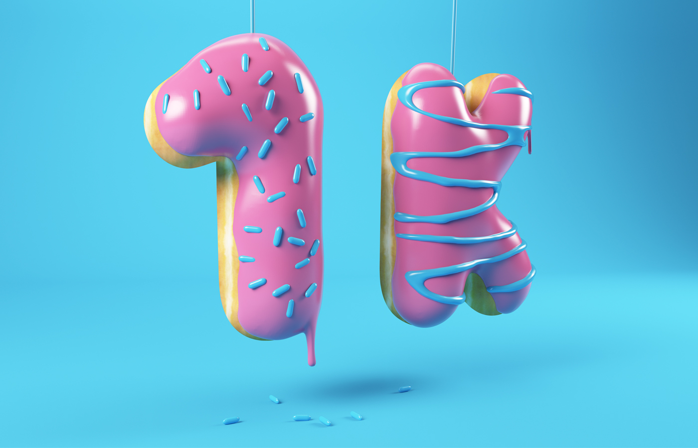 3DLETTERING CESS 3D 3DTYPE LETTERING CGI 3DARTIST DONUT YUMBERS