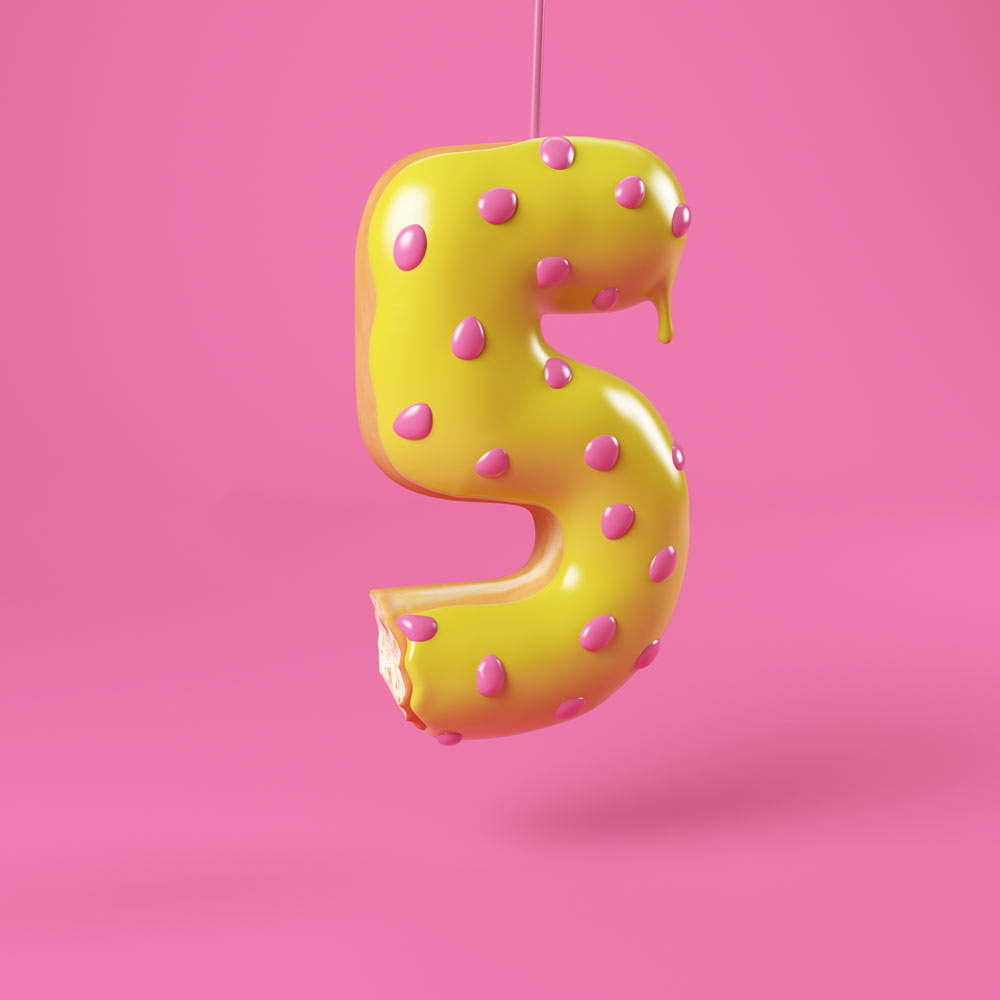 3D YUMBERS DONUTS LETTERING TYPE CESS