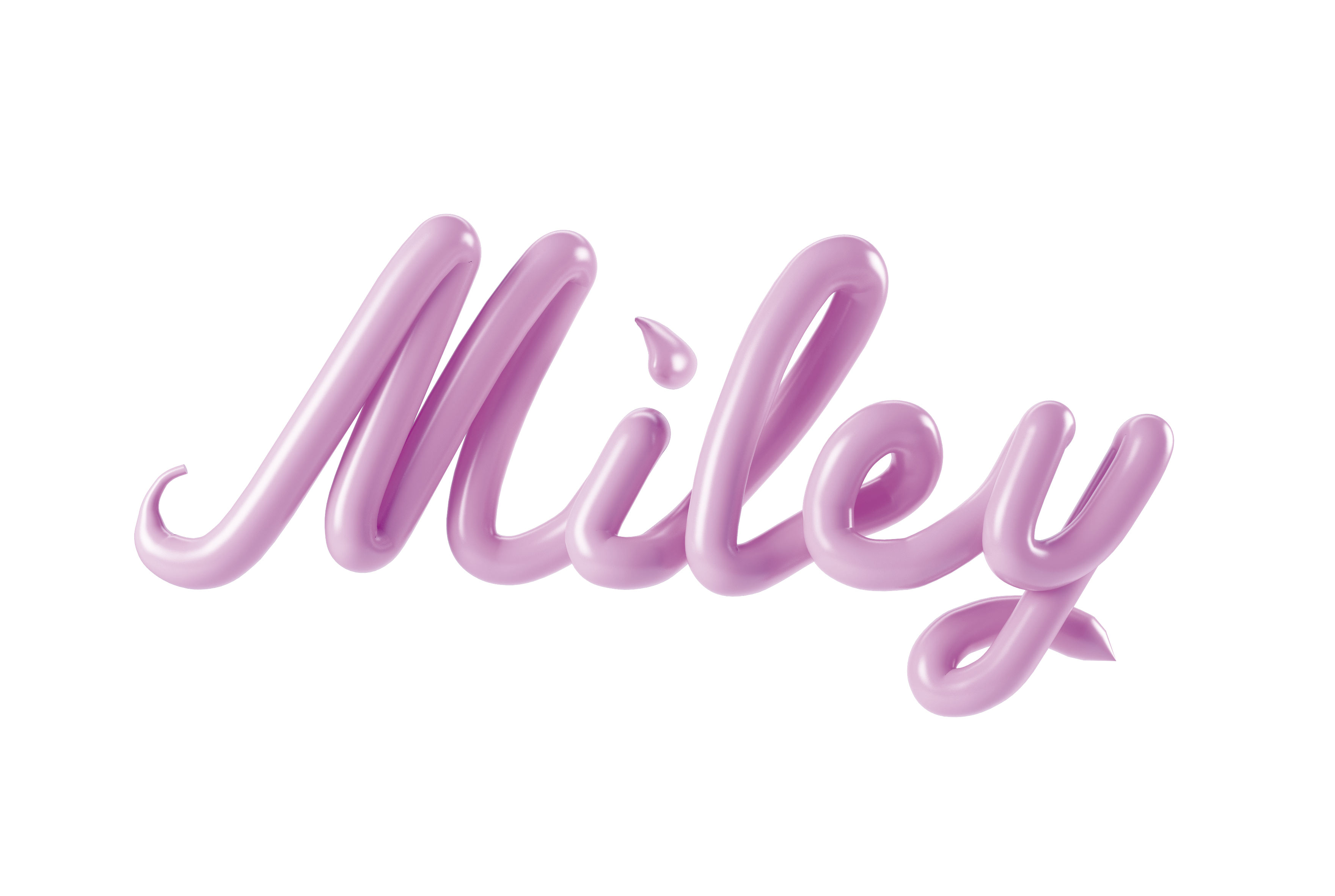 MILEYCYRUS MILEY CESS 3D LETTERING CGI 3DARTIST