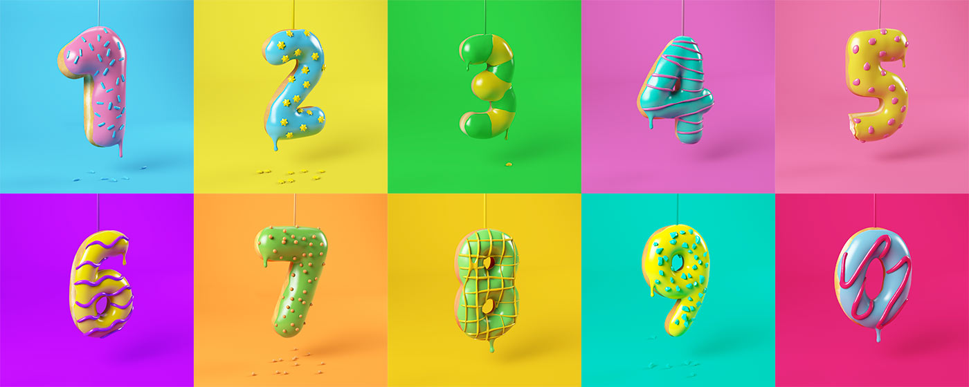 3D YUMBERS DONUTS LETTERING TYPE