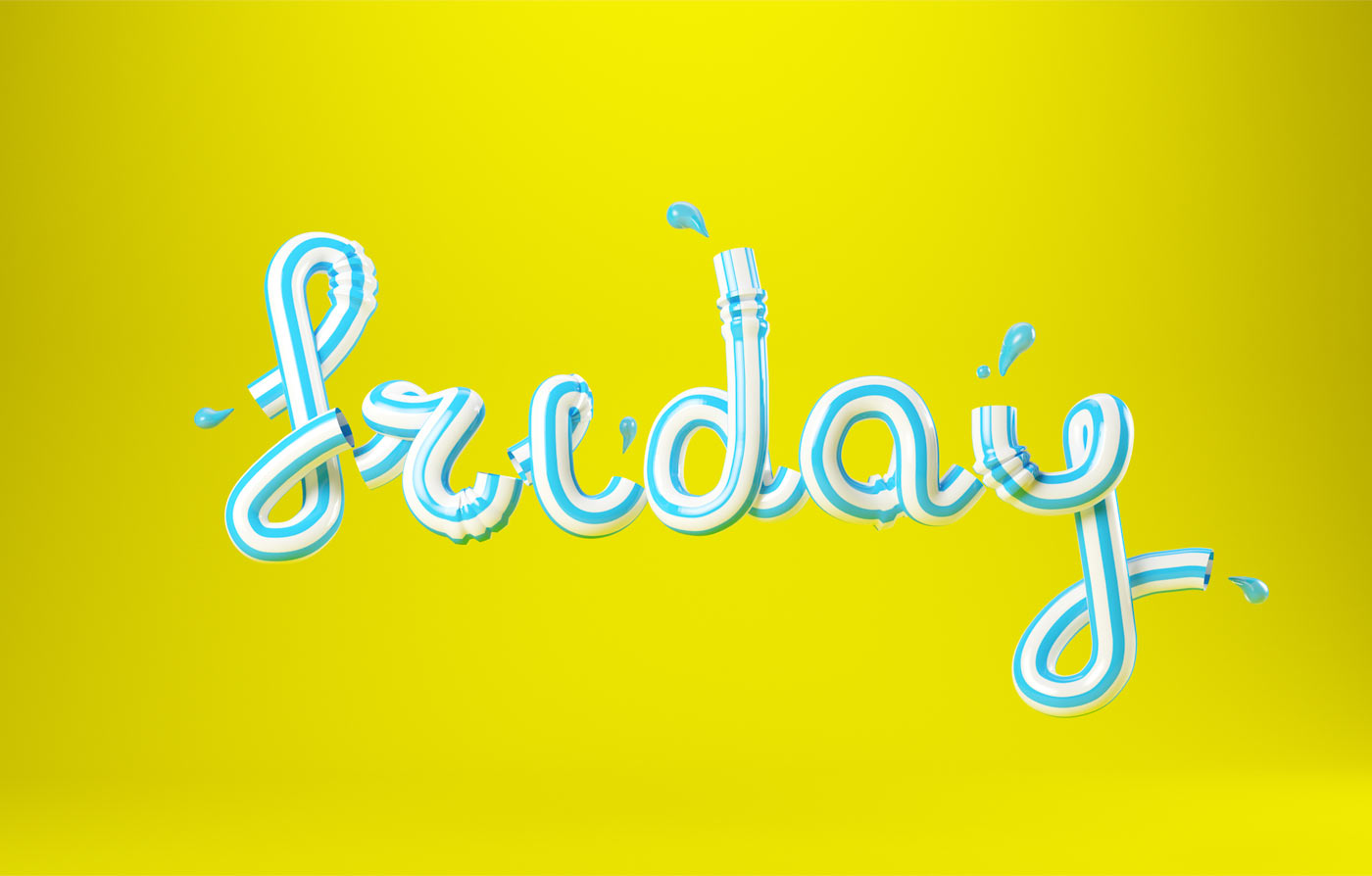 3DLETTERING CESS 3D 3DTYPE LETTERING CGI 3DARTIST DRINK FRIDAY FUN YUMMY