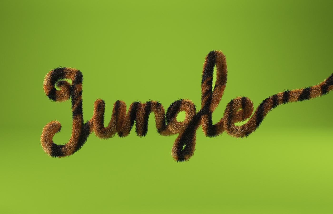3DLETTERING CESS 3D 3DTYPE LETTERING CGI 3DARTIST ANIMAL HAIR JUNGLE