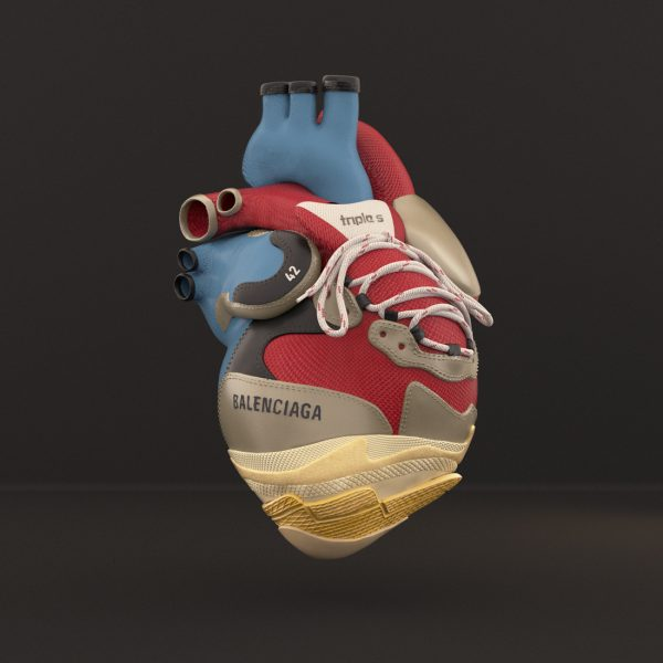 BALENCIAGA TRIPLES LUXURYANATOMY LUXURY ANATOMY BALENCIAGA GUCCI FASHION CGI 3DFASHION HEART HYPEBEAST SNEAKERS