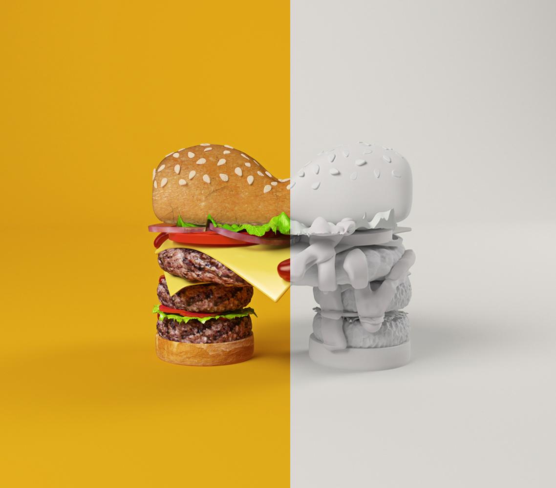MTV BURGER MTVLOGO CESS 3D LETTERING CGI 3DARTIST