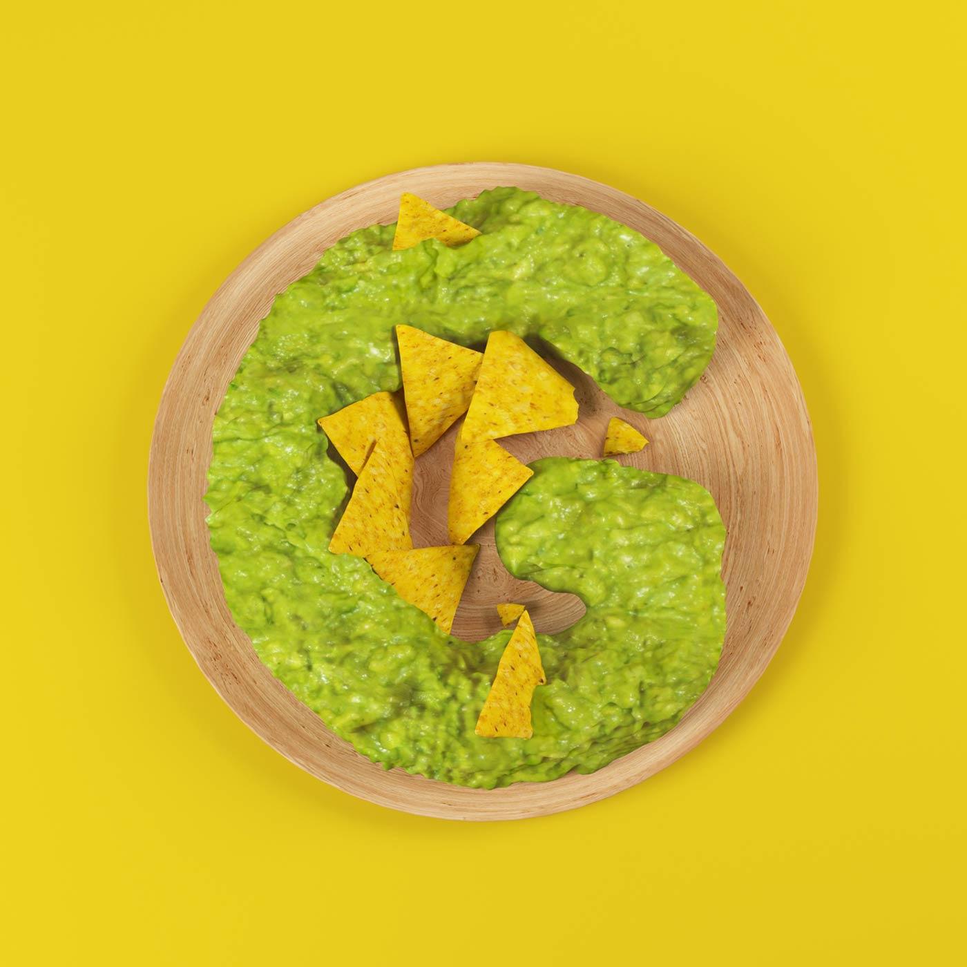 FOOD 3DFOOD FOODALPHABET CESS 3D 3DTYPE LETTERING CGI 3DARTIST NACHOS
