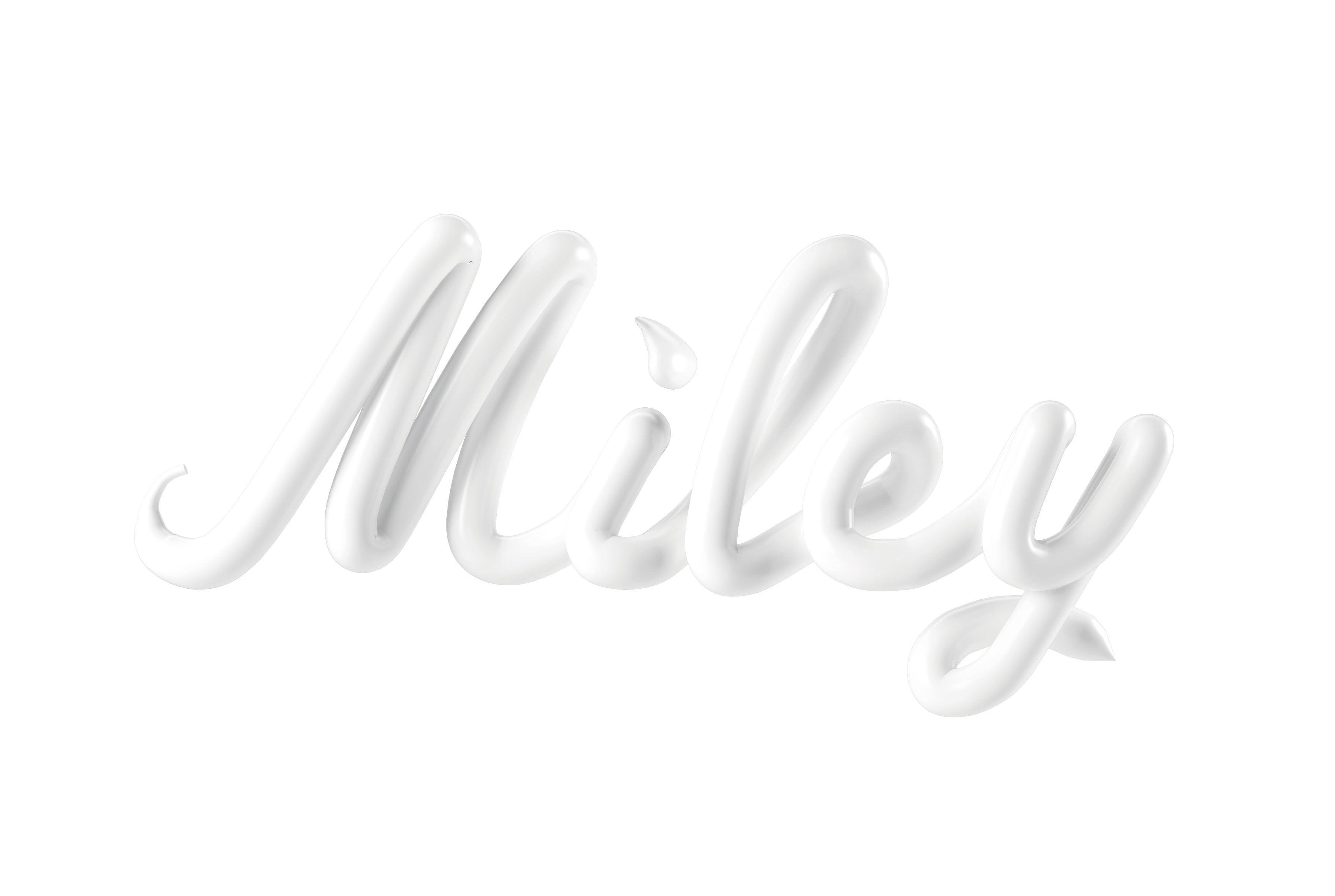 MILEYCYRUS MILEY CESS 3D LETTERING CGI 3DARTIST