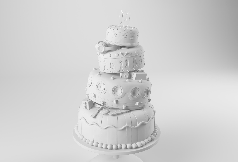 3D ILLUSTRATION CAKE CESS CGI