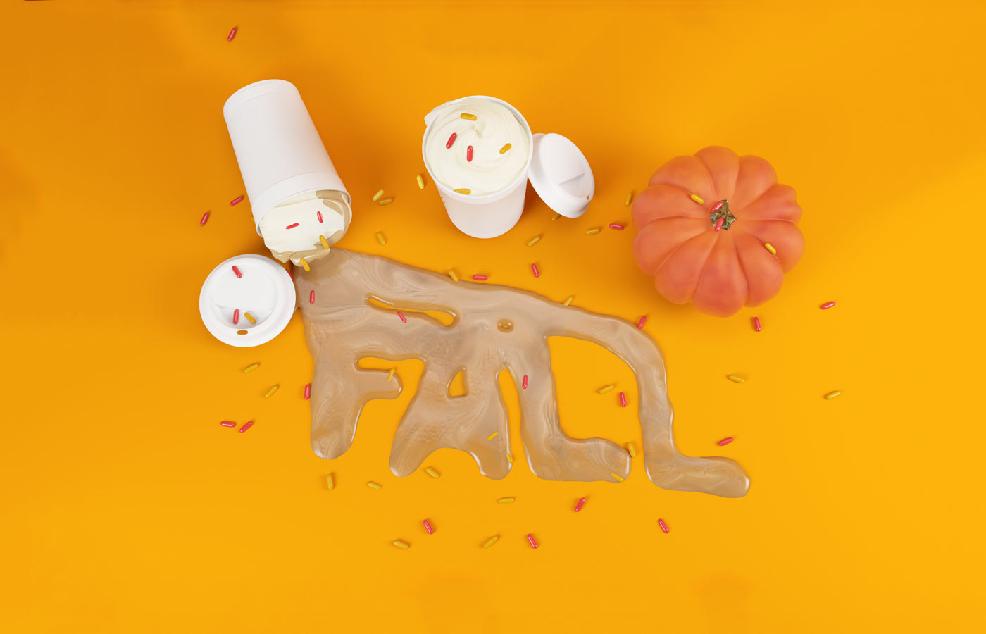 3DLETTERING CESS 3D 3DTYPE LETTERING CGI 3DARTIST DRINK COFFEE FUN FALL