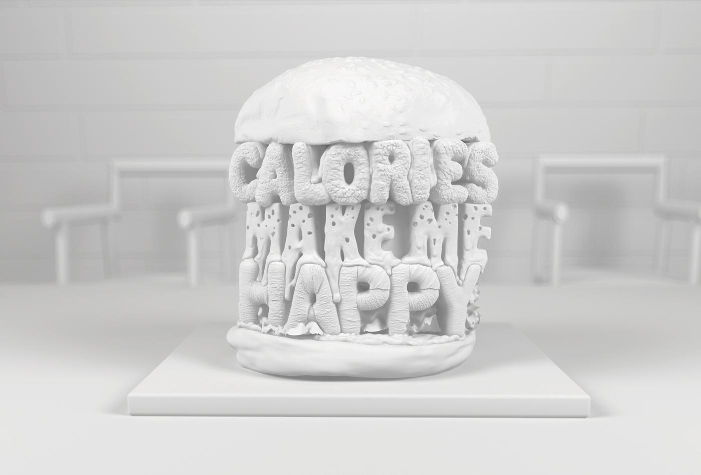 3D LETTERING TYPE BURGER 3DTYPE 3DARTIST MCDONALDS BURGERKING