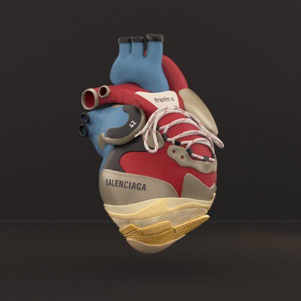 BALENCIAGA TRIPLES LUXURYANATOMY LUXURY ANATOMY BALENCIAGA GUCCI FASHION CGI 3DFASHION HEART HYPEBEAST SNEAKERS